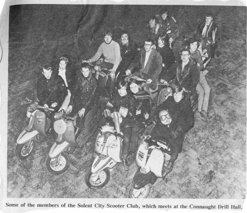 solent city scooter club members at connaught halls